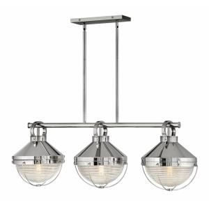 Crew - Three Light Linear Oval Pendant