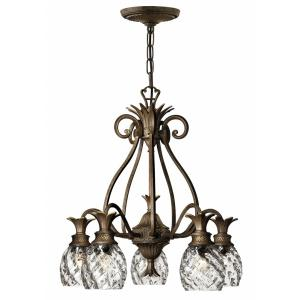 Plantation - 5 Light Medium Chandelier in Traditional, Glam Style - 22.25 Inches Wide by 24.5 Inches High
