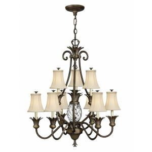 Plantation - 10 Light Large 2-Tier Chandelier in Traditional, Glam Style - 33 Inches Wide by 36.75 Inches High