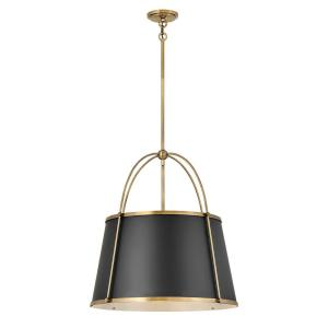 Clarke - 4 Light Large Pendant in Traditional, Transitional Style - 24.5 Inches Wide by 25.25 Inches High