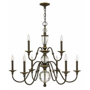 Eleanor - 9 Light Medium 2-Tier Chandelier