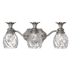 Plantation - 3 Light Bath Vanity in Traditional, Glam Style - 21 Inches Wide by 8.5 Inches High
