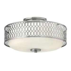 Jules - 3 Light Medium Semi-Flush Mount in Transitional Style - 15 Inches Wide by 8.25 Inches High