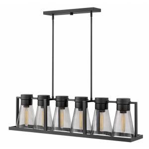 Refinery - Six Light Stem Hung Linear Pendant