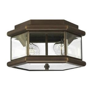 Clifton Park  2 Light Outdoor Ceiling  Solid Brass