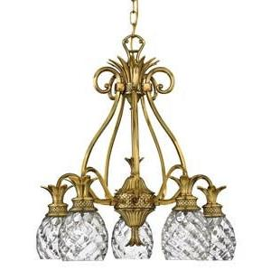 Plantation - 24.5 Inch Five Light Chandelier