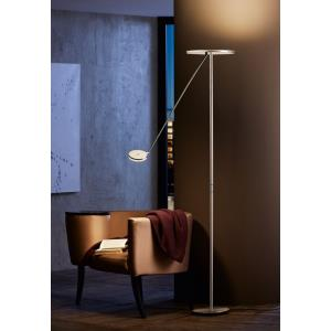 """Plano - 72.75"""" 46W 5 LED Torchiere with Reading Arm"""