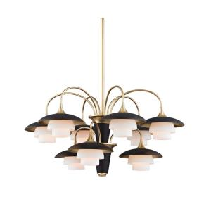 Barron - Nine Light 2-Tier Chandelier - 30.75 Inches Wide by 15.25 Inches High