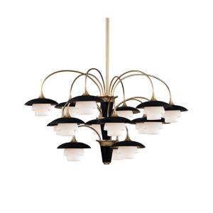 Barron - Fifteen Light 3-Tier Chandelier - 38.5 Inches Wide by 22.5 Inches High