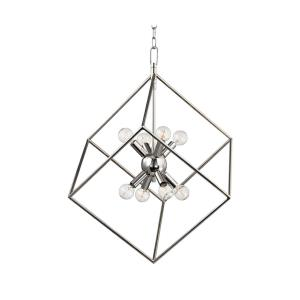 Roundout - Eight Light Pendant - 23 Inches Wide by 27.5 Inches High