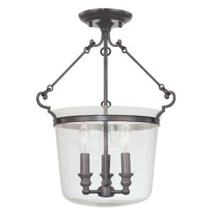 Quinton Collection - Three Light Semi Flush Mount