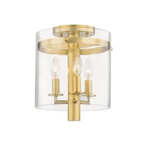 Baxter - Three Light Flush Mount