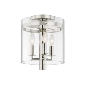 Baxter - Three Light Flush Mount in Transitional Style - 10 Inches Wide by 11.75 Inches High