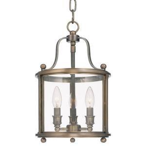 Mansfield - Three Light Pendant - 10 Inches Wide by 16 Inches High