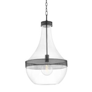 Hagen - 1 Light Pendant in Modern/Transitional Style - 17.5 Inches Wide by 32 Inches High