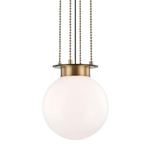 Gunther One Light Medium Pendant - 14 Inches Wide by 15.25 Inches High