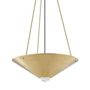 Heron - 26 Inch 80W 4 LED Pendant in Contemporary Style - 26 Inches Wide by 8.75 Inches High