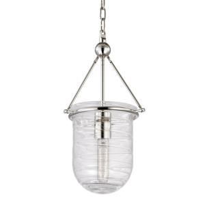 Willet - 1 Light Pendant in Transitional Style - 9 Inches Wide by 16.75 Inches High