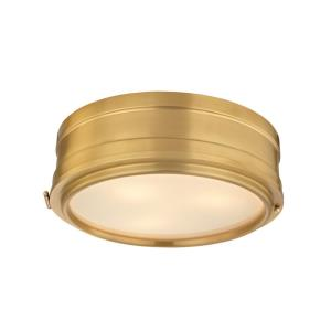 Rye - Three Light Flush Mount - 14 Inches Wide by 4.75 Inches High