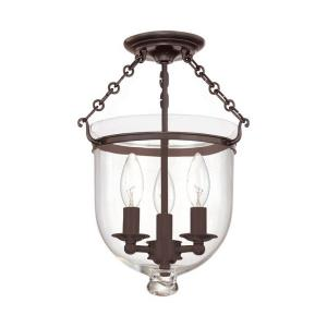 Hampton - Three Light Flush Mount - 10.25 Inches Wide by 14.75 Inches High