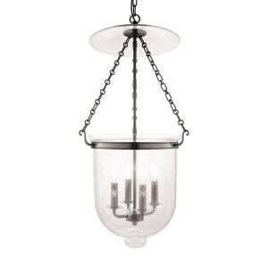 Hampton Collection - Four Light Pendant with Star Pattern Glass