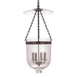 Hampton Collection - Four Light Pendant with Argyle Pattern Glass