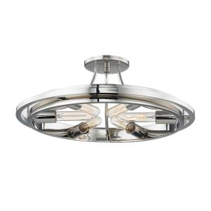 Chambers 6-Light Flush Mount - 21 Inches Wide by 8 Inches High