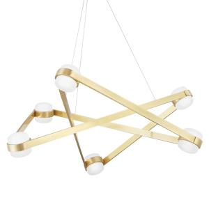 Orbit - 38 Inch 240W 6 LED Chandelier in Contemporary/Modern Style - 38 Inches Wide by 13.75 Inches High