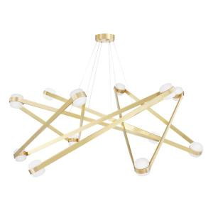 Orbit - 56.13 Inch 480W 12 LED Chandelier in Contemporary/Modern Style - 56.13 Inches Wide by 16.825 Inches High
