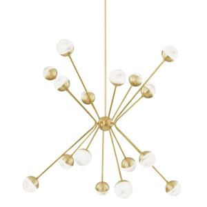 Saratoga - 62.5 Inch 64W 16 LED Chandelier in Contemporary/Modern Style - 62.5 Inches Wide by 44.625 Inches High