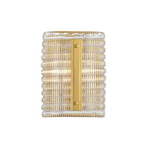 Athens - Two Light Wall Sconce in Contemporary Style - 7 Inches Wide by 9.5 Inches High