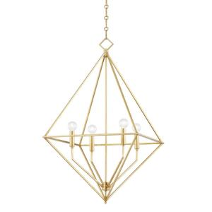 Haines - 4 Light Medium Pendant in Contemporary/Modern Style - 24 Inches Wide by 32 Inches High