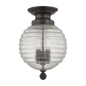 Coolidge - Three Light Flush Mount - 10 Inches Wide by 14.5 Inches High