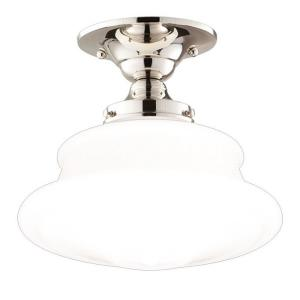 Petersburg - One Light Semi Flush Mount - 12.625 Inches Wide by 10 Inches High