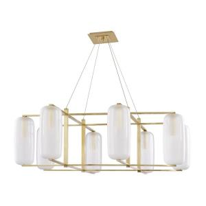 Pebble - Eight Light Chandelier in Contemporary Style - 48 Inches Wide by 15.75 Inches High