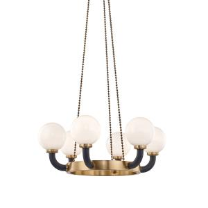 Werner Six Light Pendant - 34.5 Inches Wide by 19 Inches High