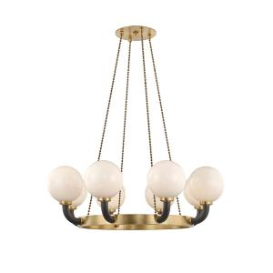 Werner Eight Light Pendant - 46 Inches Wide by 19 Inches High