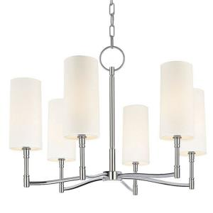 Dillion - Six Light Chandelier - 25 Inches Wide by 18 Inches High