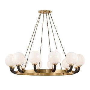 Werner Twelve light Pendant - 61 Inches Wide by 19 Inches High