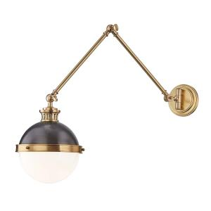 Latham One Light Swing Arm Wall Sconce - 9.5 Inches Wide by 21.25 Inches High
