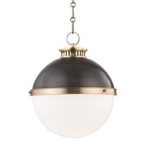 Latham One Light Large Pendant - 14.75 Inches Wide by 17 Inches High