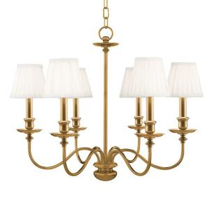 Menlo Park - Six Light Chandelier - 25 Inches Wide by 20 Inches High