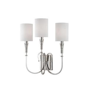 Kensington - Three Light Wall Sconce - 16 Inches Wide by 17.5 Inches High