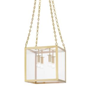 Catskill - 4 Light Small Pendant in Contemporary/Modern Style - 12 Inches Wide by 12 Inches High