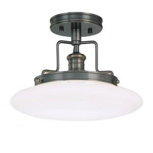 Beacon - One Light Semi Flush Mount - 12 Inches Wide by 9 Inches High
