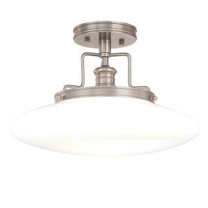 Beacon - One Light Semi Flush Mount - 15 Inches Wide by 9.5 Inches High