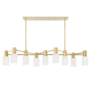 Centerport - Nine Light Linear in Modern Style - 47.5 Inches Wide by 11 Inches High