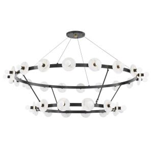 Austen - 58 Inch 180W 30 LED 2-Tier Chandelier