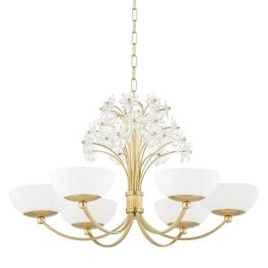 Beaumont - Six Light Chandelier in Whimsical Style - 30 Inches Wide by 17.25 Inches High