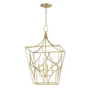 Green Point 4-W Pendant - 18 Inches Wide by 31 Inches High
